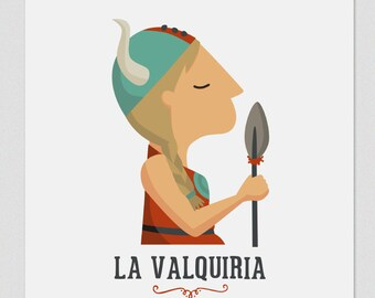 """Ilustración """" La Valquiria """". Según la ópera de Wagner."""