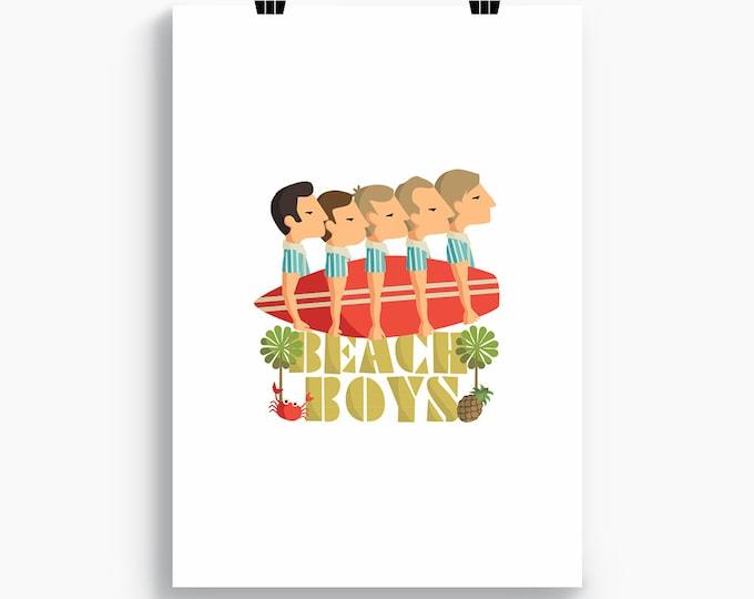 """Ilustración """" Beach Boys """"."""