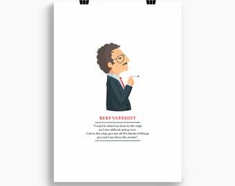 """Ilustración """"Kurt Vonnegut""""."""