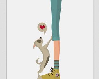 """Ilustración """" Vida de perros (chico) """"."""