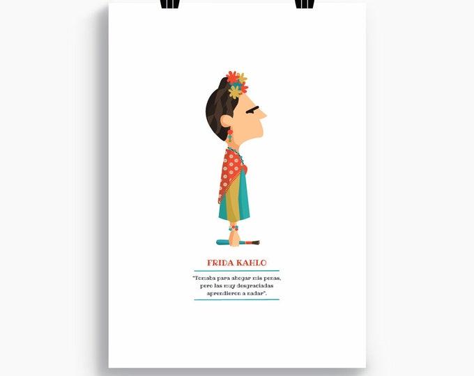 """Ilustración """"Frida Kahlo"""""""