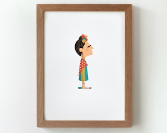 """Ilustración """"Frida""""."""