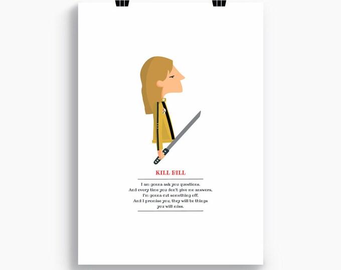 """Ilustración """"Kill Bill"""". Basada en la película de Quentin Tarantino."""