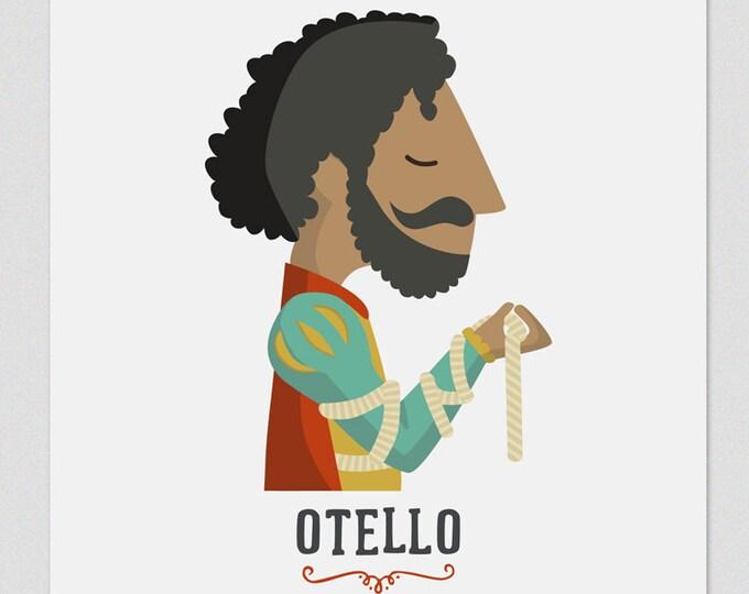 """Ilustración """" Otello """". Según la ópera de Verdi."""