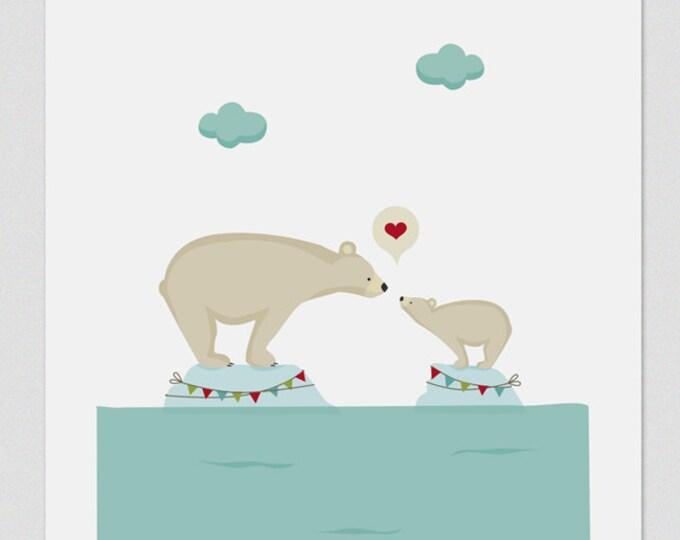 "Ilustración "" Amor polar ""."