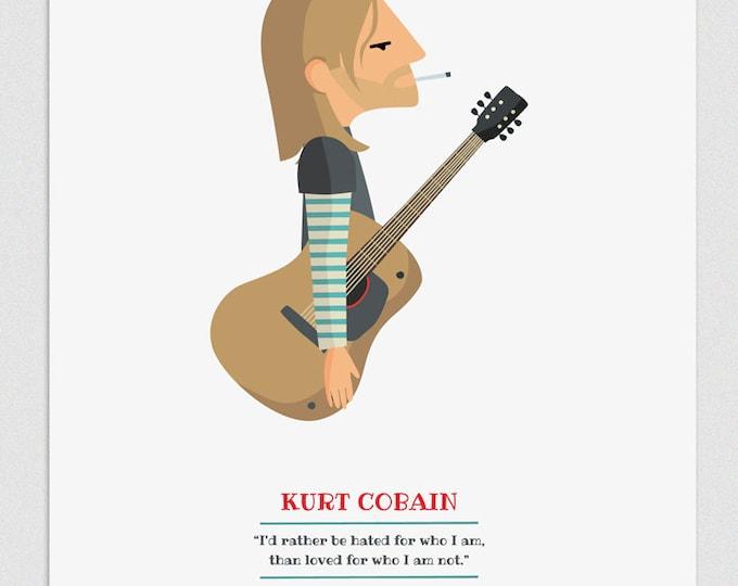 "Ilustración ""Kurt Cobain""."