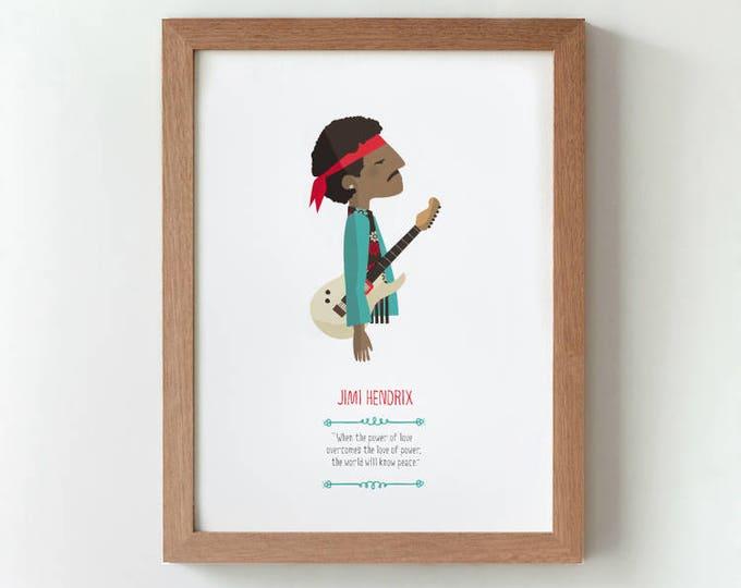 "Ilustración ""Jimi Hendrix""."