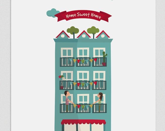 """Ilustración """" Hogar, dulce hogar """"."""