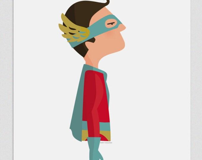 """Ilustración """"Superhéroe""""."""