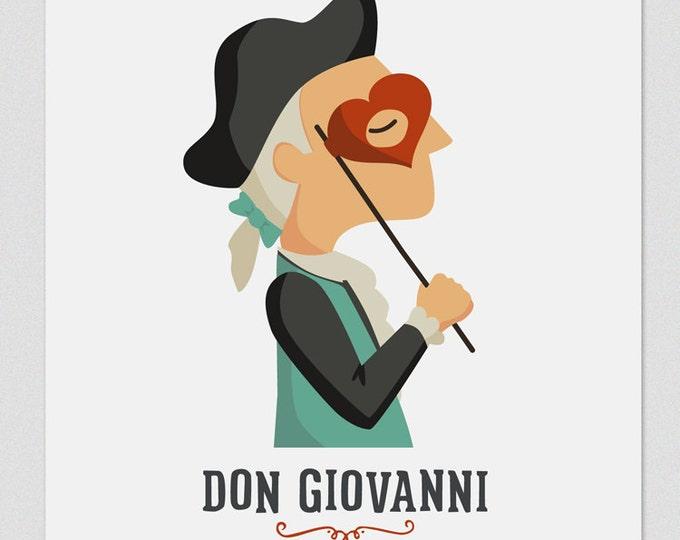 """Ilustración """" Don Giovanni """". Según la ópera de Mozart."""