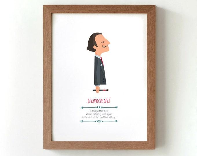 """Ilustración """"Salvador Dalí""""."""