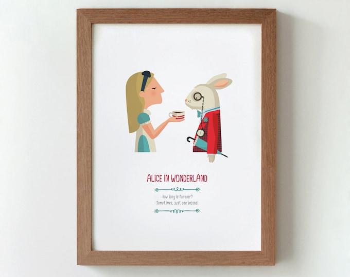 """Ilustración """"Alicia en el País de las Maravillas"""". Basada en la obra de Lewis Carroll."""