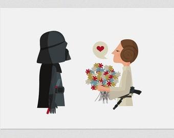 """Ilustración """"¡Felicidades, papá! (Princesa Leia). Basada en 'La Guerra de las Galaxias'."""