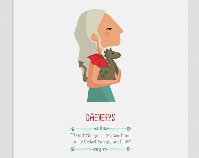 """Ilustración """"Daenerys"""". Basada en la serie de HBO 'Juego de Tronos'."""