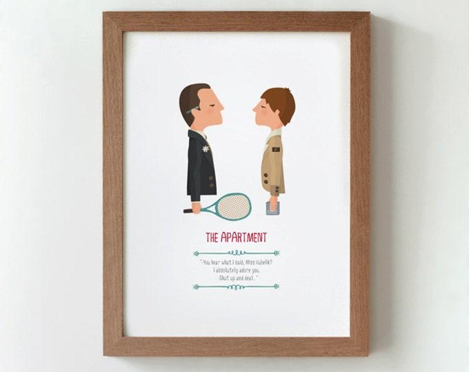 """Ilustración """"El apartamento"""". Basada en la película de Billy Wilder."""