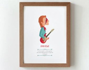 """Ilustración """"David Bowie""""."""
