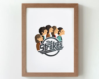 "Ilustración ""The Strokes""."