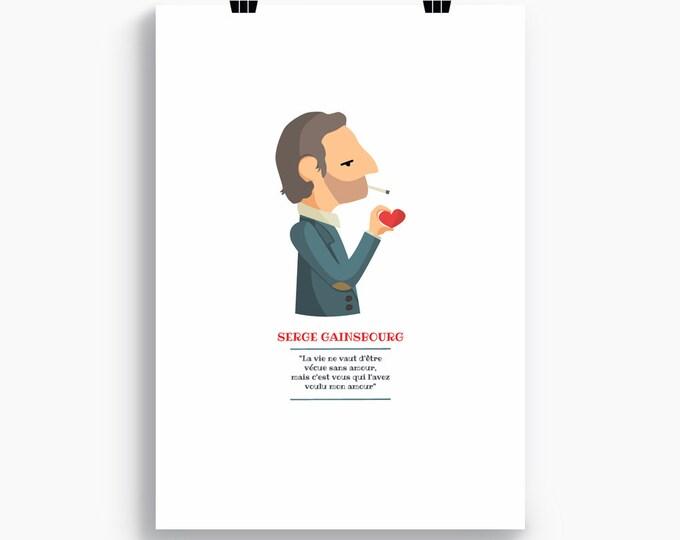 """Ilustración """" Serge Gainsbourg """"."""