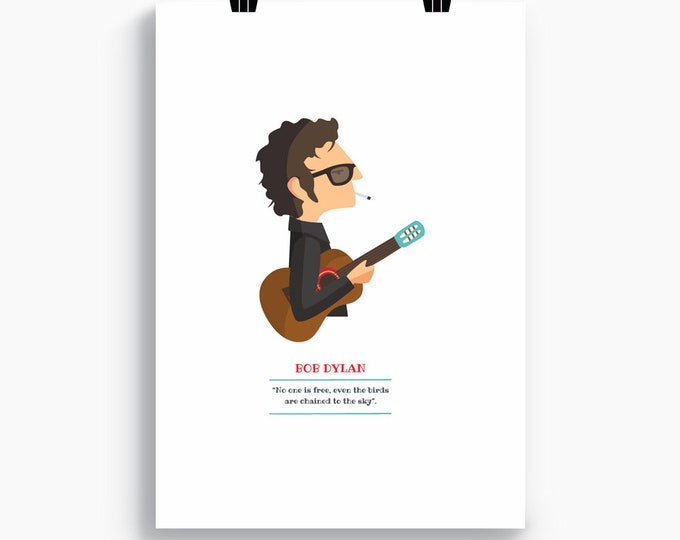 "Ilustración ""Bob Dylan""."