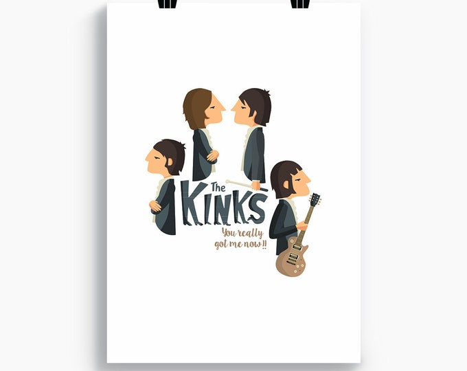 "Ilustración ""The Kinks""."
