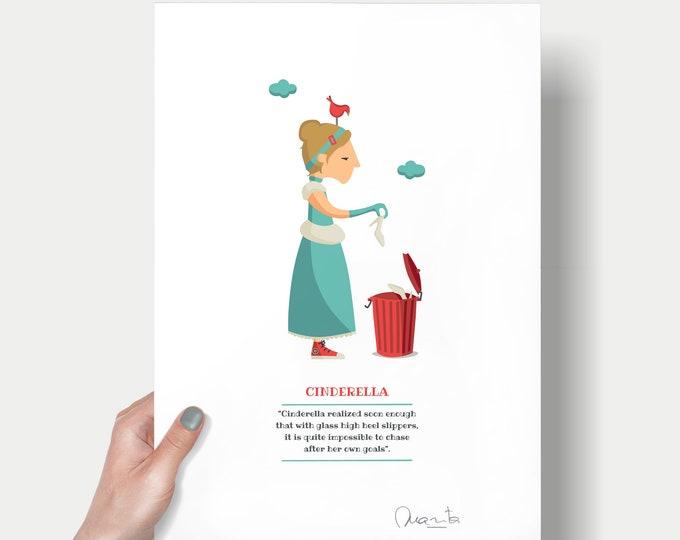 """Ilustración """"La Cenicienta""""."""