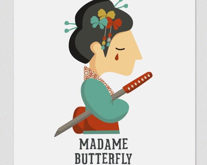 """Ilustración """" Madame Butterfly """". Según la ópera de Puccini."""