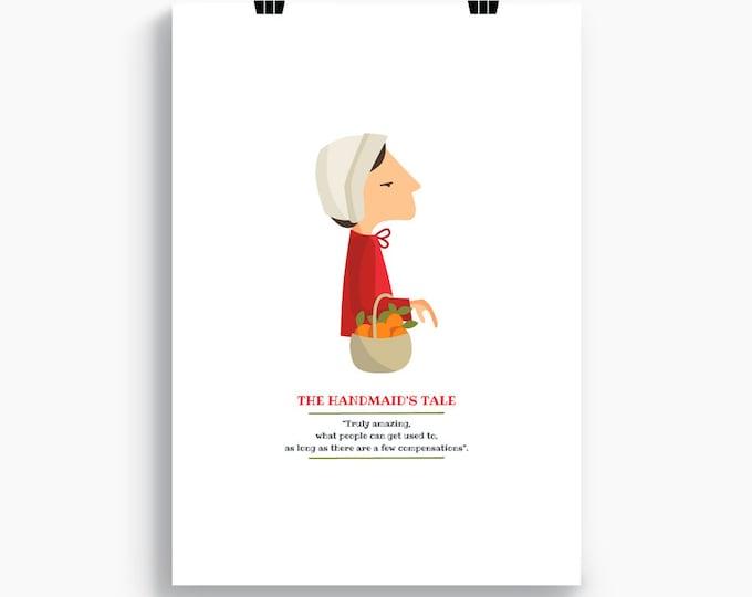 """Ilustración """"El cuento de la criada"""". Basada en la novela de Margaret Atwood."""