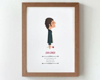 """Ilustración """"John Lennon""""."""