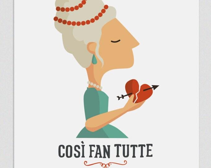 """Ilustración """" Così fan tutte """". Según la ópera de Mozart."""