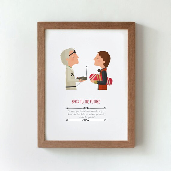 Illustration Back To The Future With Quote From Etsy
