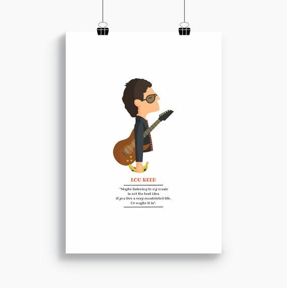 """Ilustración """"Lou Reed""""."""