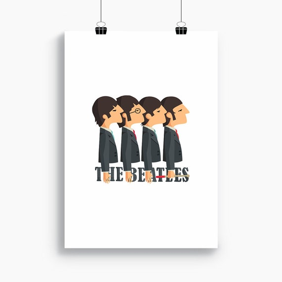 """Ilustración """"The Beatles""""."""