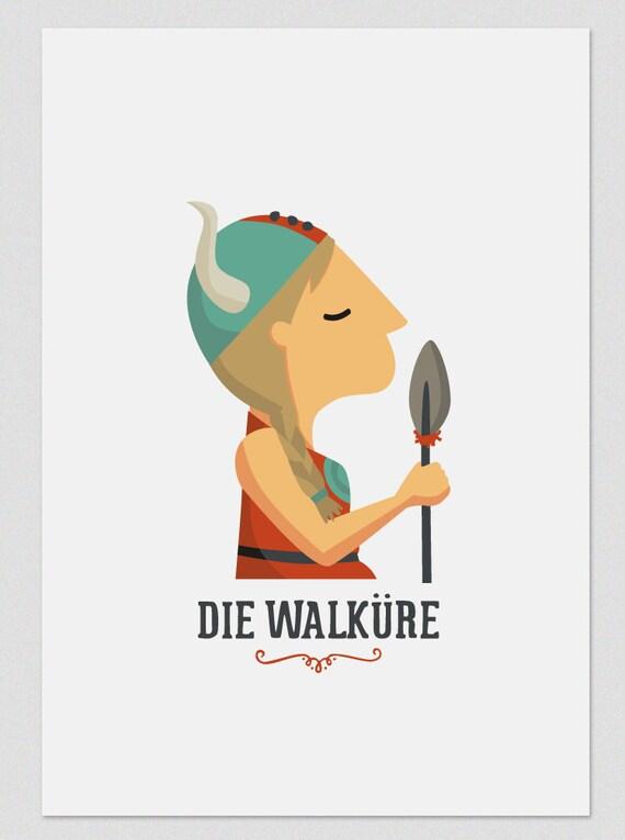 """Ilustración """" Die Walküre """". Según la ópera de Wagner."""