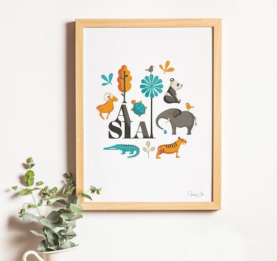 """Ilustración """" Asia """"."""