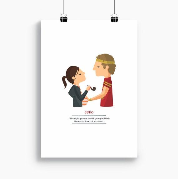 """Ilustración """"Juno"""". Basada en la película de Jason Reitman."""