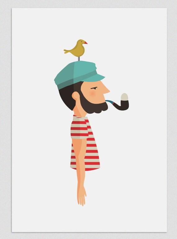 """Ilustración """" Huevo en pipa """"."""