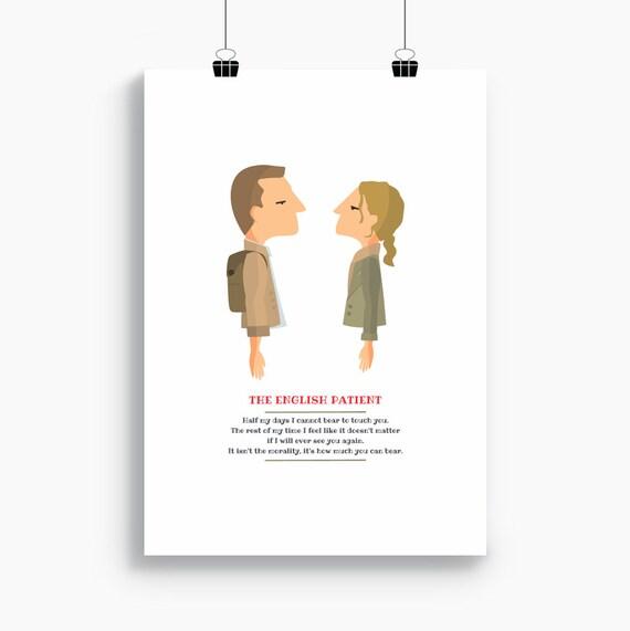 """Ilustración """" El paciente inglés """". Basada en la película de Anthony Minghella."""