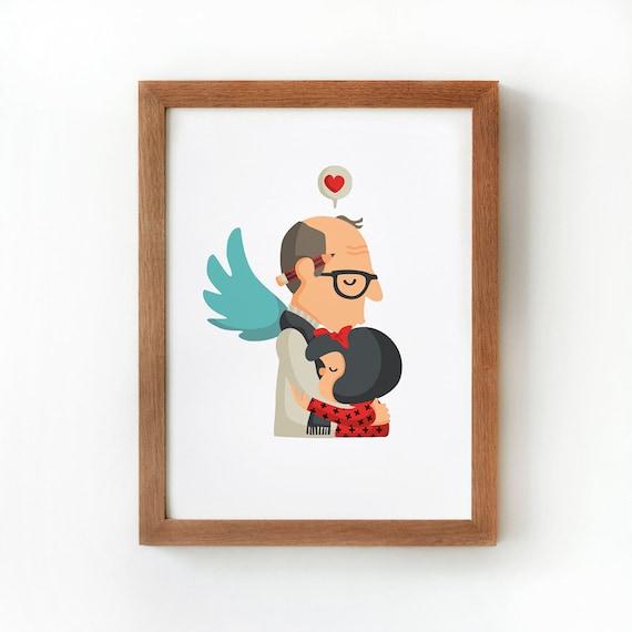 """Ilustración """" Quino y Mafalda """"."""
