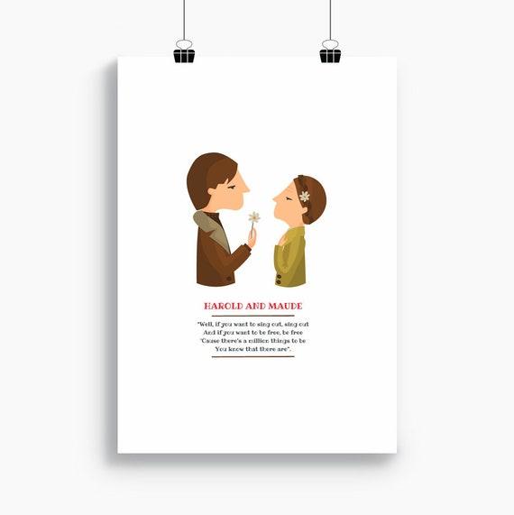 """Ilustración """"Harold and Maude"""". Basada en la película de Hal Ashby."""