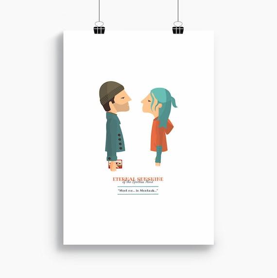 """Ilustración """"Eternal Sunshine"""" (Olvídate de mí). Basada en la película de Michel Gondry."""