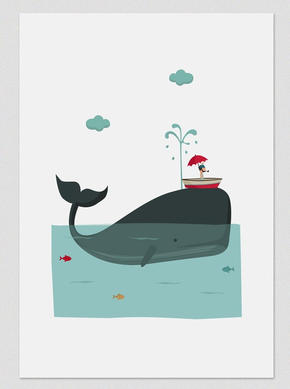"""Ilustración """" La ballena azul """"."""