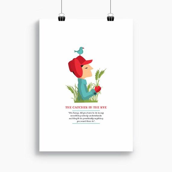 """Ilustración """"El guardián entre el centeno"""". Basada en la novela de J. D. Salinger."""