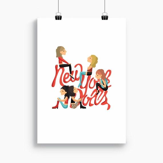 """Ilustración """" New York Dolls """"."""