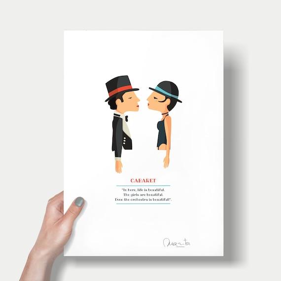 """Ilustración """"Cabaret"""". Basada en la película de Bob Fosse."""
