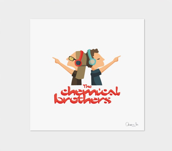"Ilustración "" The Chemical Brothers ""."
