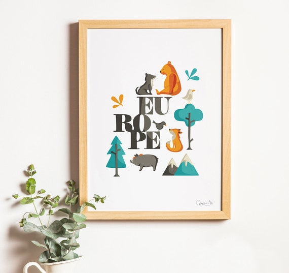 """Ilustración """" Europe """"."""