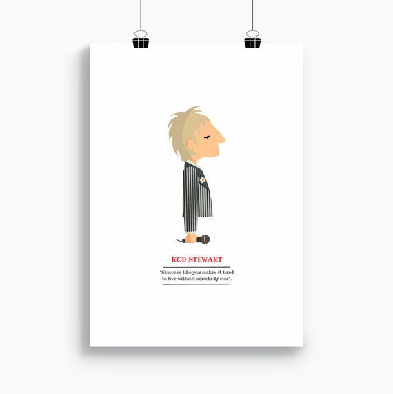 "Ilustración ""Rod Stewart""."