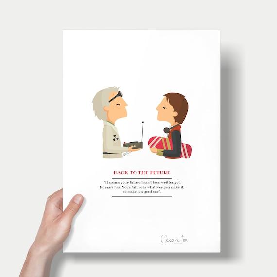 """Ilustración """"Regreso al futuro"""". Basada en la película de Robert Zemeckis."""
