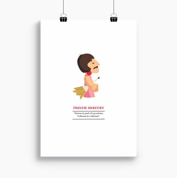 """Ilustración """"Freddie Mercury"""" (The Queen)."""