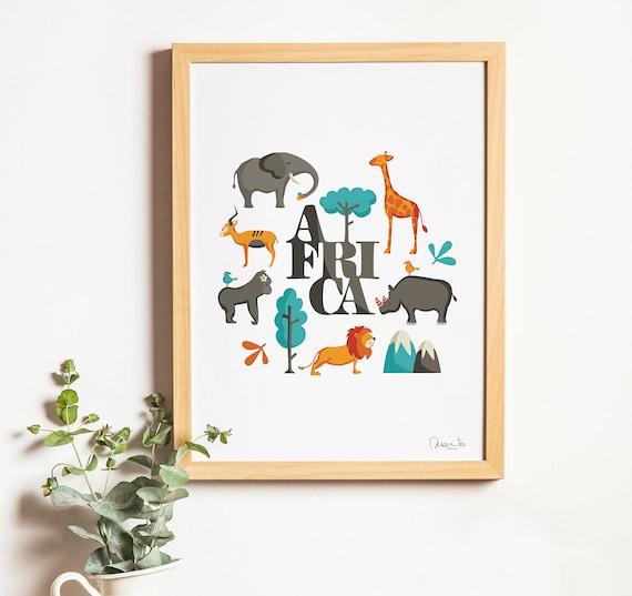 """Ilustración """" Africa """"."""